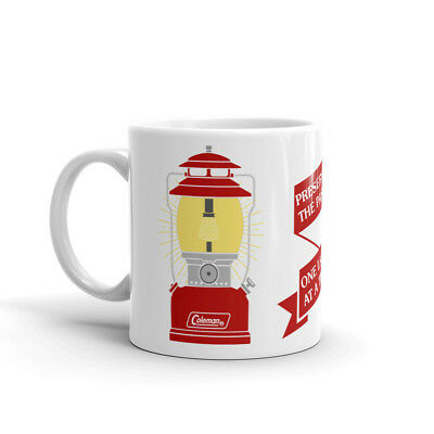 """Coleman Lantern Red 200A Short Hat """"Preserving the Past"""" Coffee Mug"""