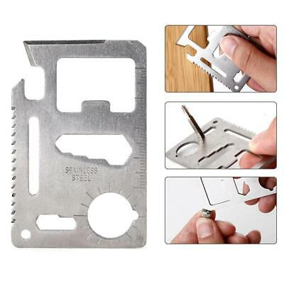 Pocket Multi Credit Card Outdoor Living Survival Camping Tool Knife Saw Opener u