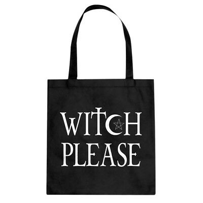 Tote Witch Please Canvas Shopping Bag #3034