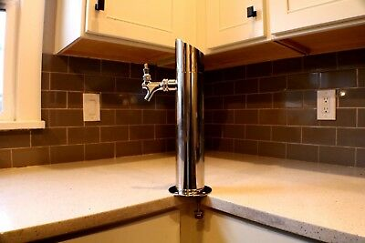 Olmstead tap tower with faucet and components for Draft beverages