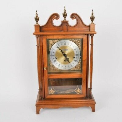 Pillar And Scroll Howard Miller Mantel Clock With Triple Chime