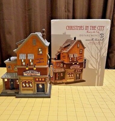 2011 Department 56 Christmas Music in the City Maxwell's Blues Hall 4020175