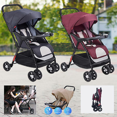 Baby Stroller Pram Compact Lightweight Jogger Carry-on Travel Foldable Pushchair