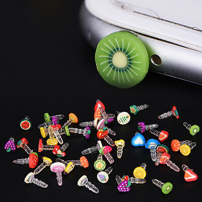 fashion style popular fruit earphone dust plug for headphone hole universal ~!
