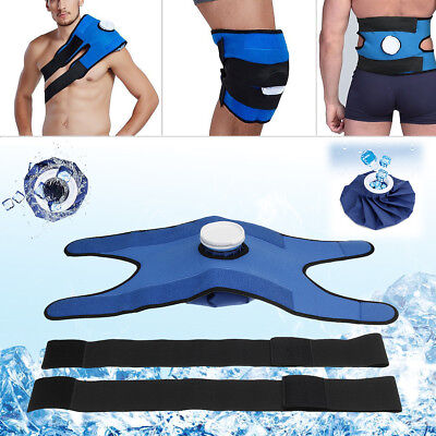 Reusable Ice Bag Pack Pain Relief Cold Therapy + Wrap + strap For knee Shoulder