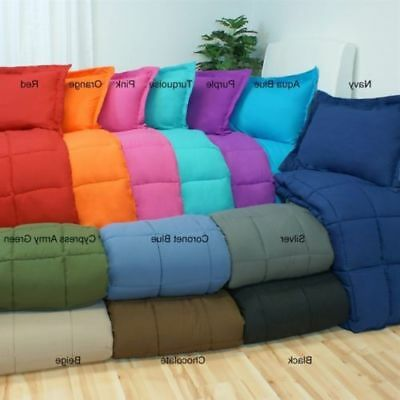 Premium Goose Down Alternative Comforter DUVET INSERT SUPER SOFT 9 SOLID COLORS