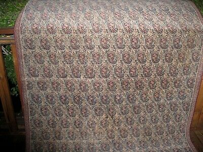 "1890 Antique persian   very  fine kerman rug   with   great colors  9'1"" x 5'1"""