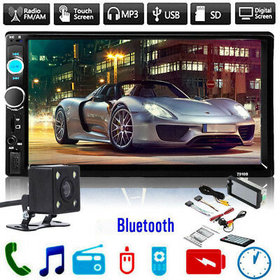 "7"" 2 DIN HD Bluetooth Touch Screen Car Stereo Radio FM/MP5/USB/AUX with Camera"