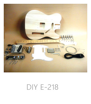 Telecaster Style Electric Guitar E-218 Complete NO-SOLDER DIY Kit With Gift Pack