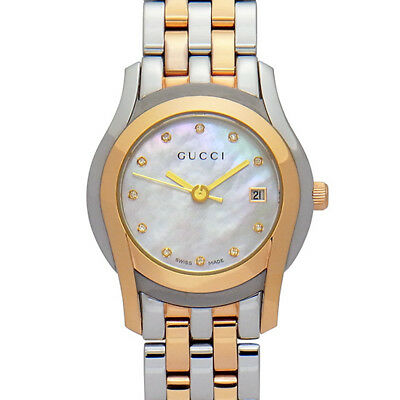 2a3a6bca7bf Pre-Owned Gucci G Class Date YA055536 Quartz Pink SS Women s Wristwatch