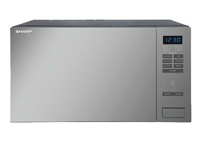 Sharp R34DMBK - 1000W Midsize Mirror Black Microwave with Built-in Weight Scale