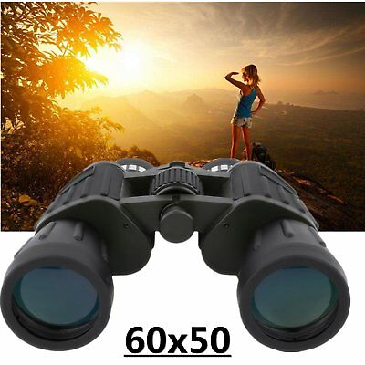 60x50 Zoom Day Night Vision Outdoor Travel Binoculars Hunting Telescope+Case OY