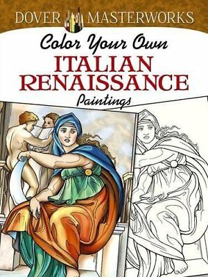 Coloring Book Italian Renaissance Paintings Relax Relief Stress Therapy Adults