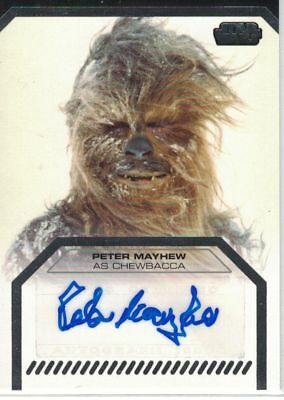 Star Wars Galactic Files Serie 1: Peter Mayhew (Chewbacca) autograph