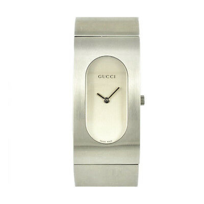 026abb51334 Pre-Owned Gucci 2400L GQ2405P-SV Quartz Stainless Steel Silver Ladies  Watch