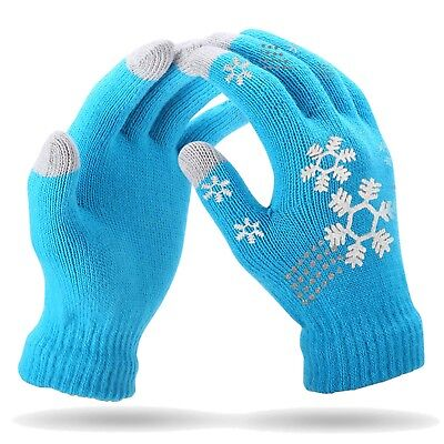 Premium Unisex Knitted Wool Blend Wool Warm Winter Gloves-8 Colors (1-10 Lots)