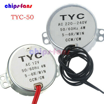 AC 12V/220V TYC-50 50/60Hz Synchronous Motor 5/6RPM CW/CCW 4W For Microwave