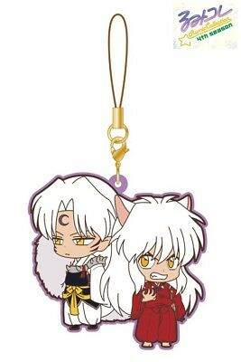 Movic Rumic Collection Rubber Strap Charm 4th Season #A Inuyasha & Sesshomaru