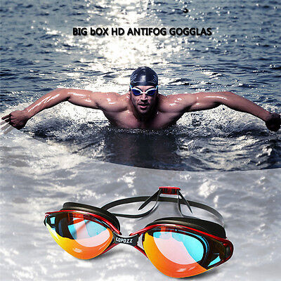 Copozz Stylish Waterproof Anti-fog UV Swimming Goggles Diving Glasses Eyewear