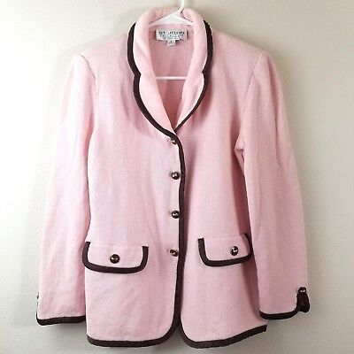 St. John Collection by Marie Gray Pink Santana 2 Piece Knit Pant Suit Size 6