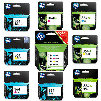Genuine HP 364 Combo / 364XL Black and Colour Ink Cartridges for Photosmart 5520