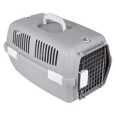 Quality Pet Carrier Kitten Cat Puppy Dog Hamster Rabbit Metal Door Travel Crate