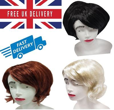 Beehive Wig Auburn Blonde Black 50s 60s 70s Ladies MOD Fancy Dress