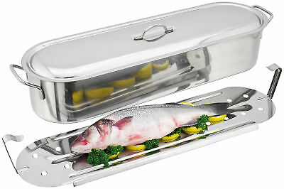 Judge Stainless Steel Fish Poacher 61cm Fish Kettle Induction