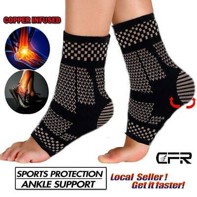 a2824ea3c9 Magnetic Copper Ankle Support Brace Compression Sleeve Joint Fit Foot Men  Women