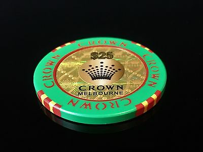 $25 Chip CROWN CASINO MELBOURNE with Holograph