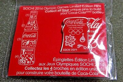 Coca Cola #1 Pin 2014 Sochi Winter Olympic Canadian Coca-Cola Pin New In Package