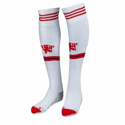 Adidas Man,utd,white/red Socks,6.5-8,40-42,new With Tags