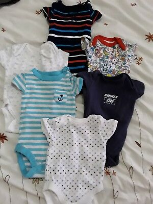 6 Baby Boy Vest Bundle Package Ages From Newborn To 3Mons Hardly Worn