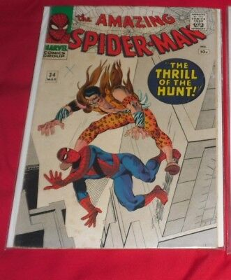 Amazing Spider-Man #34 - VG- Kraven the Hunter 2nd time