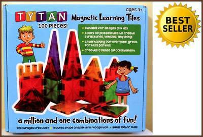 BRAND NEW Tytan Magnetic Learning Tiles Building Set 100-Piece 100% RATED SELLER