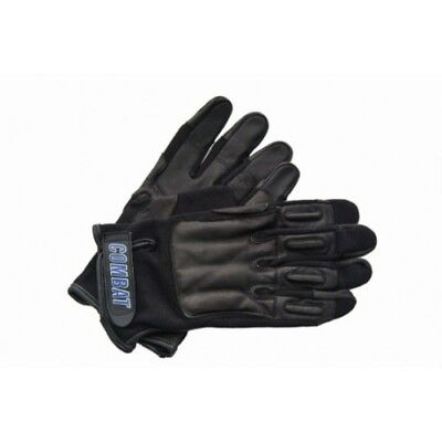 COMBAT Official Black Leather TACTICAL Real Weighted SAP Gloves - LARGE