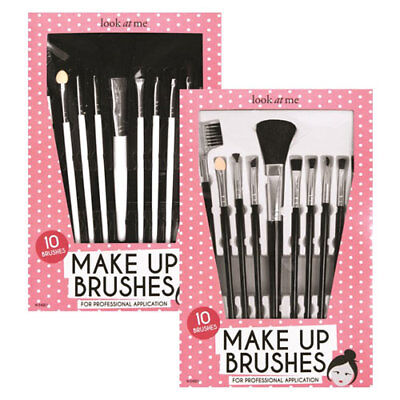 10 x Make up Brush Set Professional Blusher Eye Shadow Eyebrow Brush
