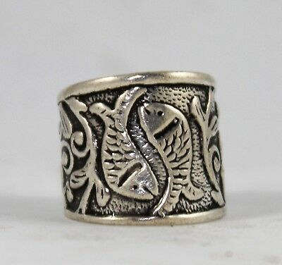 Beautiful Fashionable Traditional Pair Of Fish Design Adjustable Ring 05