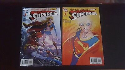 Supergirl #1 (Oct 2005, DC) and Michael turner variant cover lot of 2