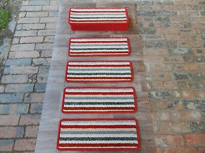 14 open plan carpet stair pad treads  striped