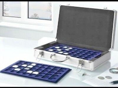 Aluminium coin case with 5 trays holds 205 coins lockable