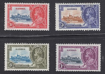 GAMBIA #125-128 Mint Hinged Complete Set of 4 SILVER JUBILEE 1935 SCV $18.55