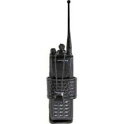 Bianchi Black 7323 Basketweave Accumold Elite Group 2 Adjustable Radio Holder