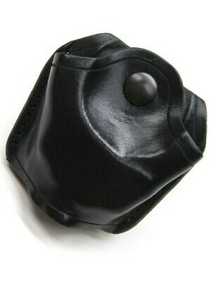 AKER LEATHER Black 506 OPEN TOP Handcuff Case For Standard Chain Link! A506-BP
