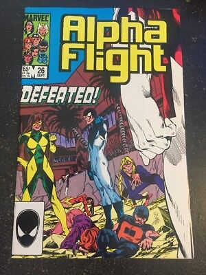 Alpha Flight#26 Incredible Condition 9.2(1985) Byrne Art, Wow!!