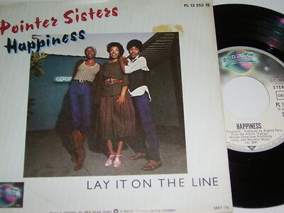 "7"" - Pointer Sisters Happiness & Lay it on the Line - Promo 1979 MINT # 5701"