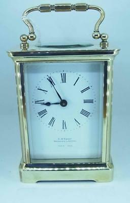 A Nice Working Brass Carriage Clock by G M Ewart Waterloo & Liverpool Paris Made