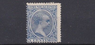 Spain 1889  5C Blue   Unused  No Gum