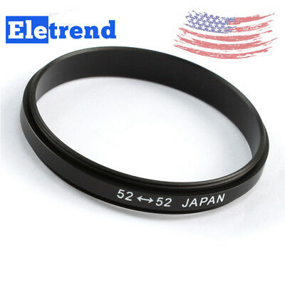 52mm-52mm 52-52 mm Male To Male Double Coupling Macro Reverse Adapter Ring US