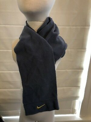 Nike Boys Kids Gray Grey Fleece Scarf Winter Warm Wrap MSRP $15 NEW